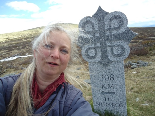 Dovre mellom Hjerkinn og Kongsvoll, 208 km igjen til Nidaros.