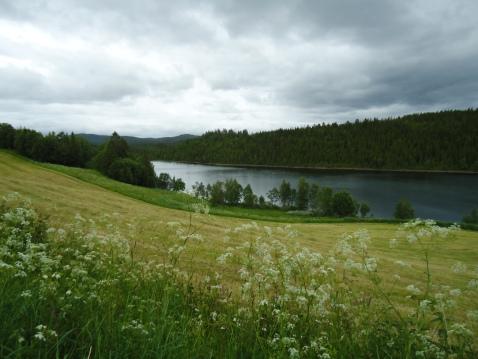 Utsikt over Buvatnet, Storbuan gård.