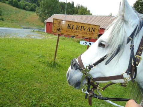 Ankommer Kleivan pilegrimsherberge.
