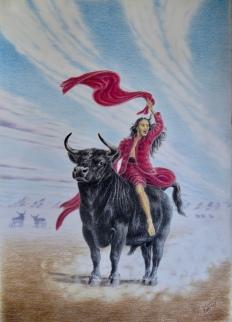 """Viva la Liberté"" Fargeblyant, 51 x 73 cm."